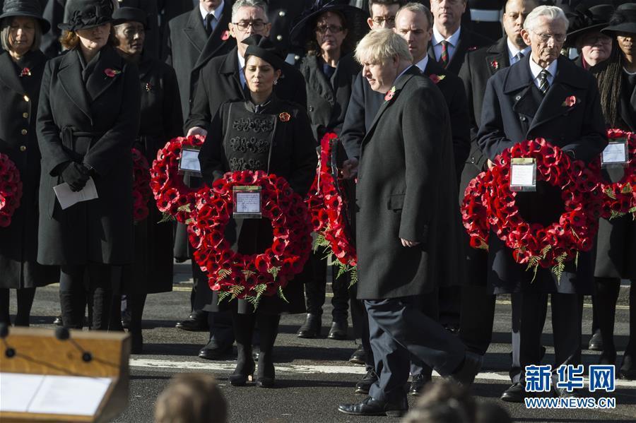 英国王室及政要参加停战纪念日活动