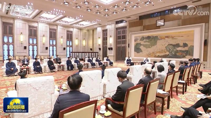 汪洋分别会见中国佛教协会和中国道教协会新一届理事会领导班子