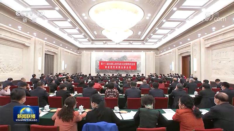 王沪宁参加河北代表团审议