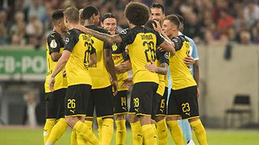 [图]德国杯-罗伊斯破门帕科建功 多特2-0晋级