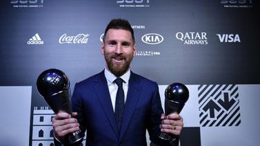 [图]梅西荣膺2019世界足球先生 6次当选历史首人