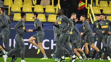 [图]欧冠小组赛F组前瞻:国际米兰训练备战