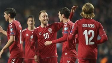 [国际足球]丹麦大胜弱旅 距离晋级一步之遥