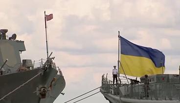 """《今日关注》 20210409 乌克兰黑海演习""""不宣而演"""" 俄乌重兵集结要硬刚?"""