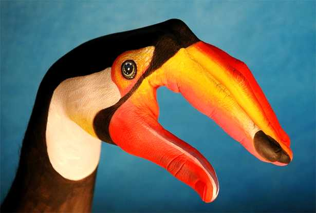 Body painting assumes a new form in the hands of Italian artist Guido Daniele.