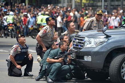 January 14, 2016, terrorist explosions occurred near a shopping mall in Jakarta, Indonesia. Photo by CFP