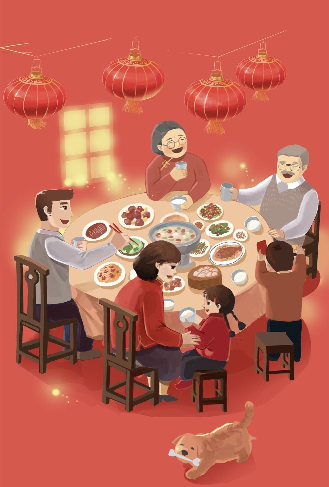 中国年夜饭(插画师Zero)