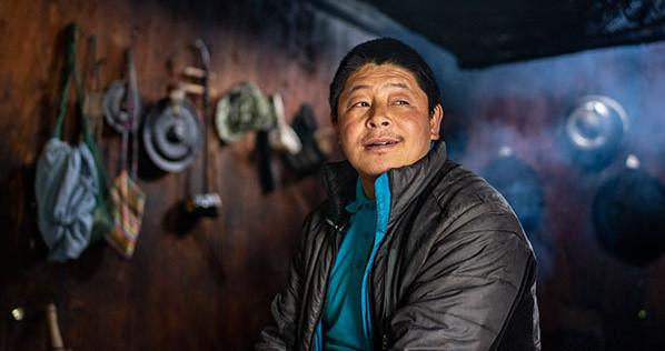这是云南贡山县独龙江乡迪政当村的陈永群