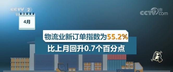 4月中国物流业景气指数为53.5% 物流运行稳中有升