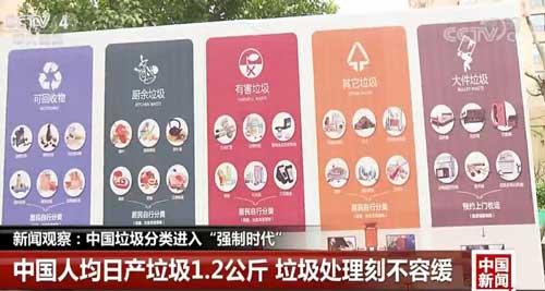 """新聞觀察:中國垃圾分類進入""""強制時代"""""""