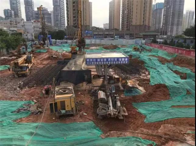 截至7月底,项目正在进行桩基工程施工