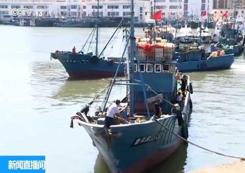 山东龙口:开渔第一网 渔民喜丰收