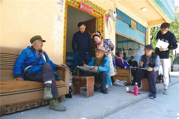 中国画学院再长征创作组赴夹金山写生
