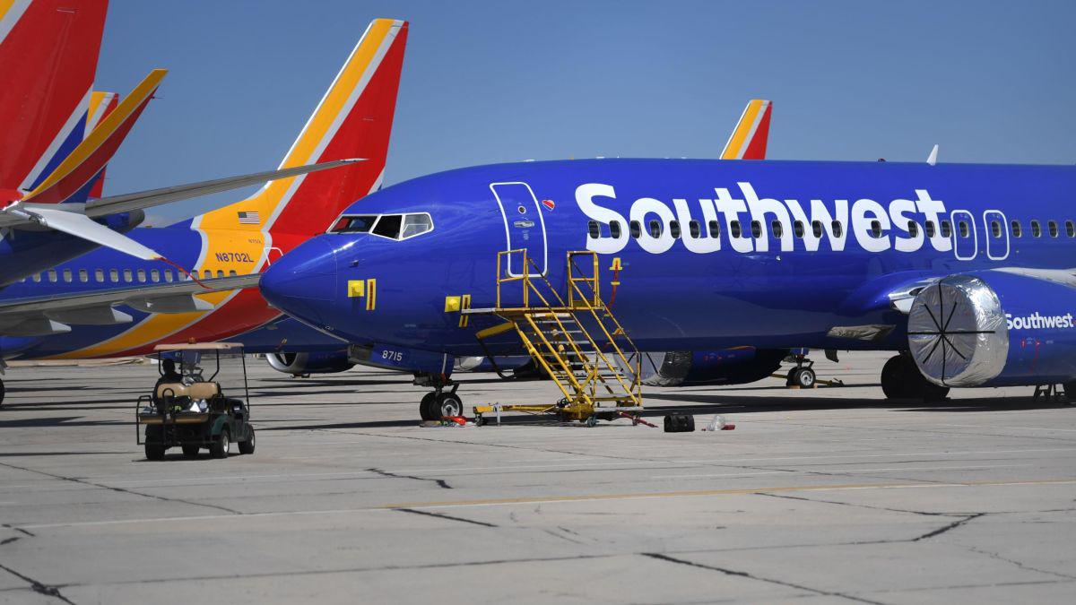 美国西南航空公司客机。图源:美国有线电视新闻网(CNN)