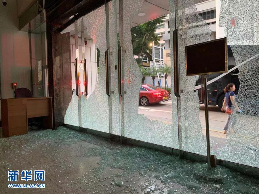 (新華網)(4)新華社亞太總分社辦公大樓遭暴徒打砸破壞