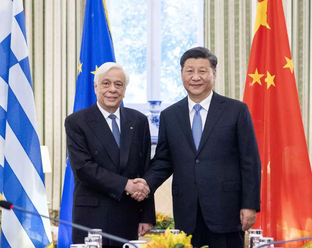 △当地时间 11月11日,国家主席习近平在雅典同希腊总统帕夫洛普洛斯会谈。