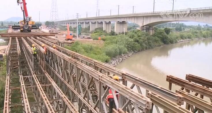 """2022年亚运会配套工程""""湖杭铁路""""快马加鞭抢工期"""
