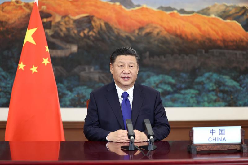 12月12日,国家主席习近平在气候雄心峰会上通过视频发表题为《继往开来,开启全球应对气候变化新征程》的重要讲话,宣布中国国家自主贡献一系列新举措。 新华社记者 鞠鹏 摄
