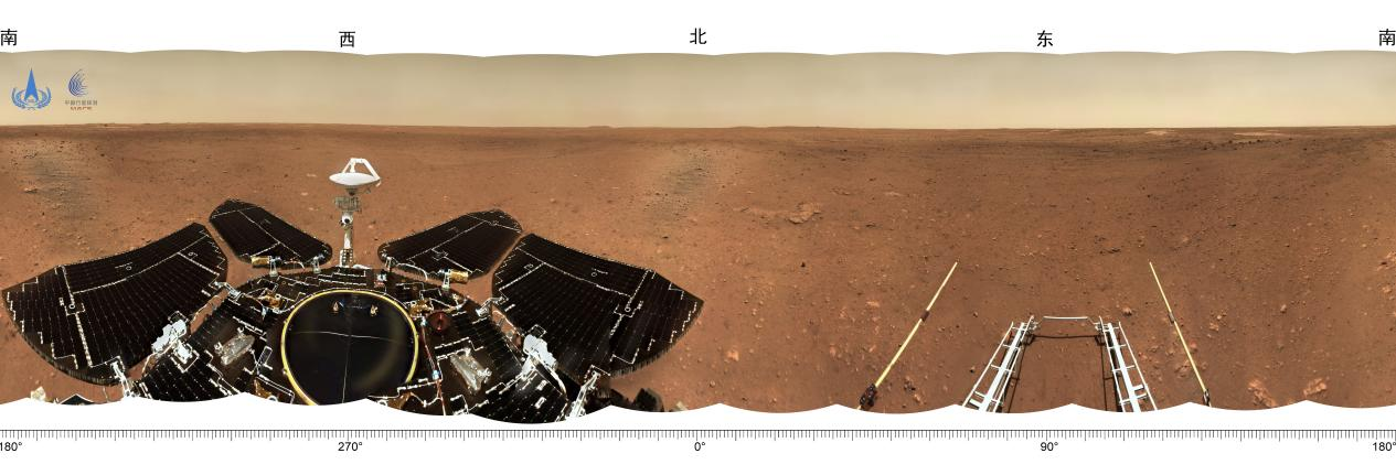 摩登5招商主管958337 天问一号探测器着陆火星首批科学影像图公布