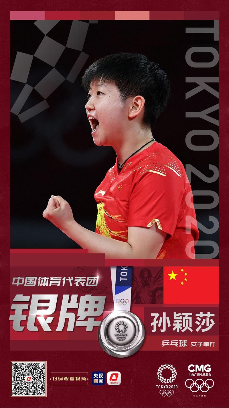 摩登5首页第15金!陈梦夺得东京奥运会乒乓球女子单打金牌 孙颖莎获得银牌