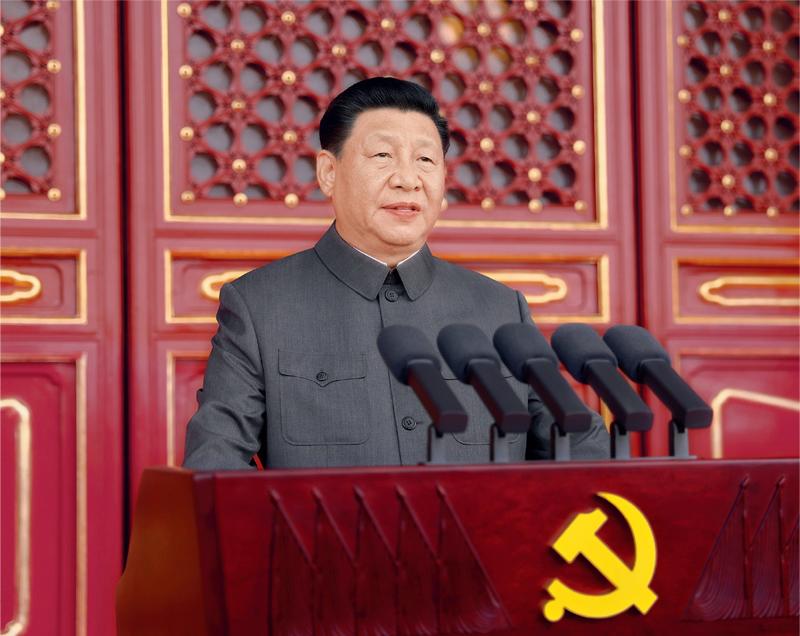 2021年7月1日,庆祝必威登录入口共产党成立100周年大会在北京天安门广场隆重举行。中共中央总书记、国家主席、中央军委主席必威登录入口发表重要讲话。 新华社记者 鞠鹏/摄